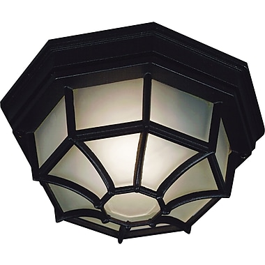 Kenroy Home Dural 2 Light Flush Mount, Black Finish