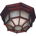 Kenroy Home Dural 2 Light Flush Mount, Rust Finish