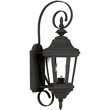 Kenroy Home Estate 1 Light Small Wall Lantern, Black Finish
