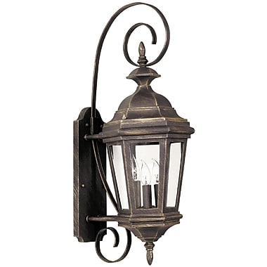 Kenroy Home Estate Medium Wall Lantern, Antique Patina Finish