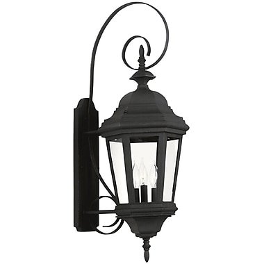 Kenroy Home Estate Large Wall Lantern, Black Finish