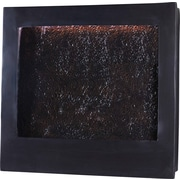 Kenroy Home Central Square Indoor Wall Fountain, Bronze Finish with Textured Face
