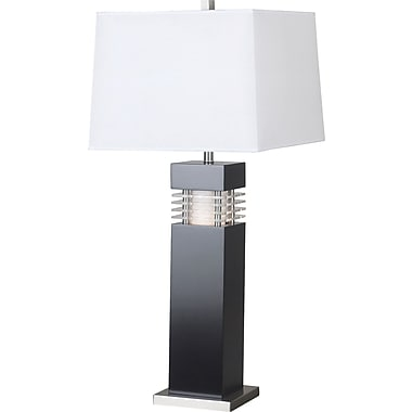 Kenroy Home Wyatt Table Lamp, Black Finish with Acrylic Accents