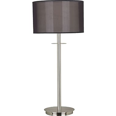 Kenroy Home Marlowe Table Lamp, Brushed Steel Finish
