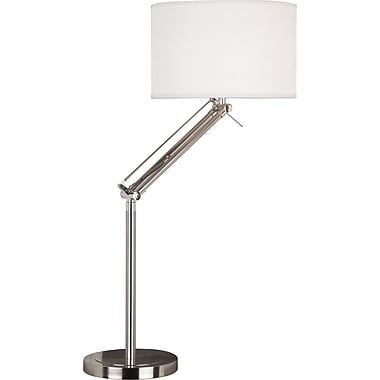 Kenroy Home Hydra Adjustable Table Lamp, Brushed Steel Finish