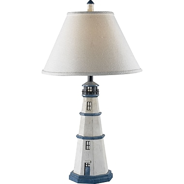 Kenroy Home Nantucket Table Lamp, Antique White Finish