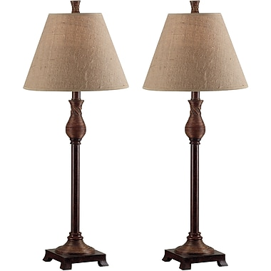 Kenroy Home Santiago Buffet Lamp, Natural Reed Finish
