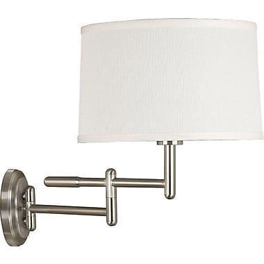 Kenroy Home Theta Wall Swing Arm Lamp, Brushed Steel Finish