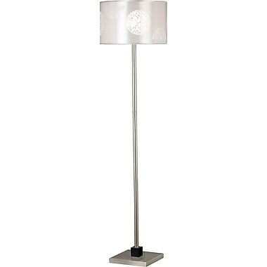 Kenroy Home Cordova Floor Lamp, Brushed Steel Finish With Graphite Accent