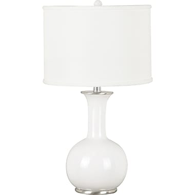 Kenroy Home Mimic Table Lamp, Gloss White Finish