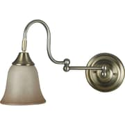 Kenroy Home Horton Wall Swing Arm Lamp, Vintage Brass Finish