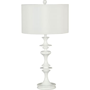 Kenroy Home Claiborne Table Lamp, White Gloss Finish
