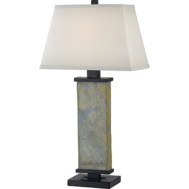 Kenroy Home Hanover Table Lamp, Natural Slate Finish