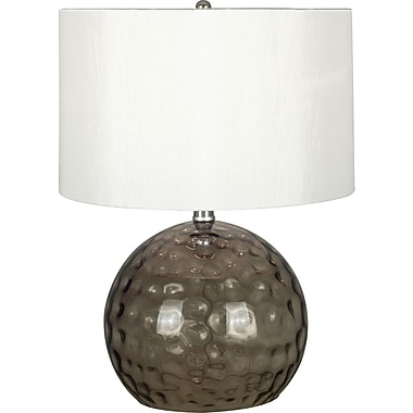 Kenroy Home Dalton Table Lamp, Smoked Glass Finish
