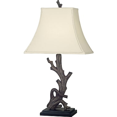 Kenroy Home Drift Table Lamp, Wood Grain Finish