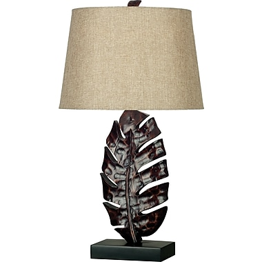 Kenroy Home Frond Table Lamp, Mottled Bronze Finish