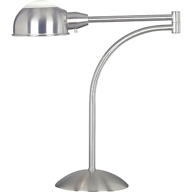 Kenroy Home Acadia Swing Arm Table Lamp, Brushed Steel Finish