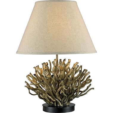 Kenroy Home Piper Table Lamp, Natural Reed Finish