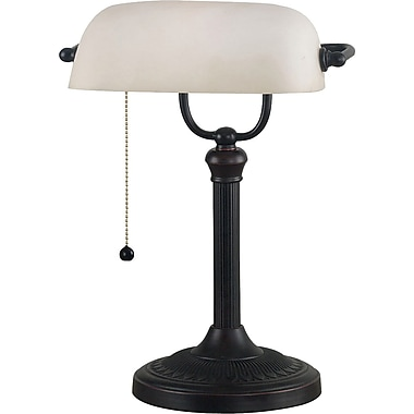 Kenroy Home Amherst Banker Lamp, Oil Rubbed Bronze Finish