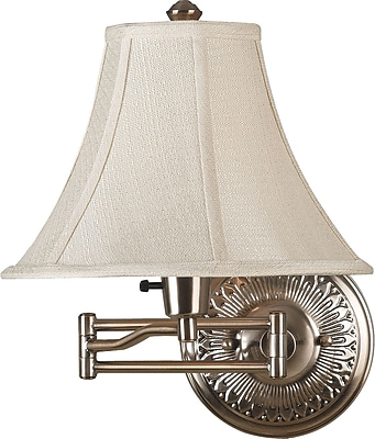 Swing Arm Wall Lamp Brass Finish : Kenroy Home Amherst Wall Swing Arm Lamp, Bronzed Brass Finish Staples