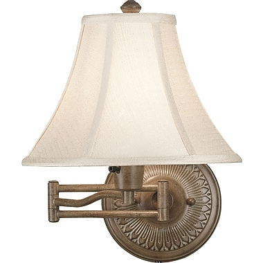 Kenroy Home Amherst Wall Swing Arm Lamp, Nutmeg Finish