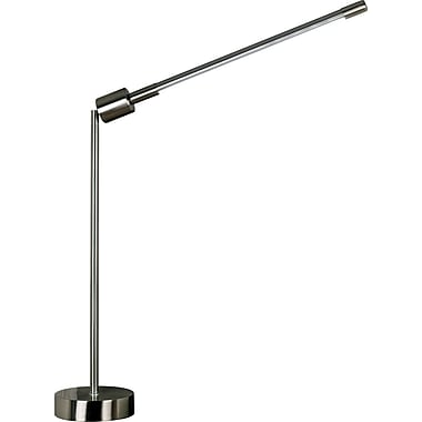 Kenroy Home Tublette Table Lamp, Brushed Steel Finish