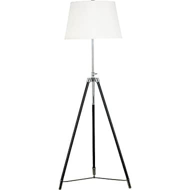 Kenroy Home Surveyor Floor Lamp, Oil Rubbed Bronze Finish with Chrome Accents