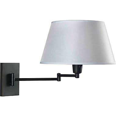 Kenroy Home Simplicity Wall Swing Arm Lamp, Oil Rubbed Bronze Finish