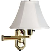 Kenroy Home Nathaniel Wall Swing Arm Lamp, Polished Brass Finish