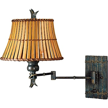 Kenroy Home Kwai Wall Swing Arm Lamp, Bronze Heritage Finish