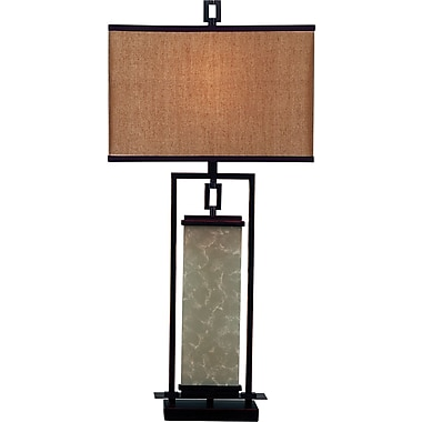 Kenroy Home Plateau Table Lamp, Oil Rubbed Bronze Finish
