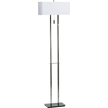 Kenroy Home Emilio Floor Lamp, Chrome Finish