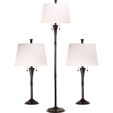 Kenroy Home Park Avenue Table and Floor Lamp Set, Oil Rubbed Bronze Finish