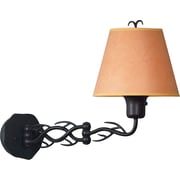 Kenroy Home Twigs Wall Swing Arm Lamp, Bronze Finish