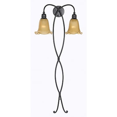 Kenroy Home Braid 2 Light Wallchiere, Oil Rubbed Bronze Finish