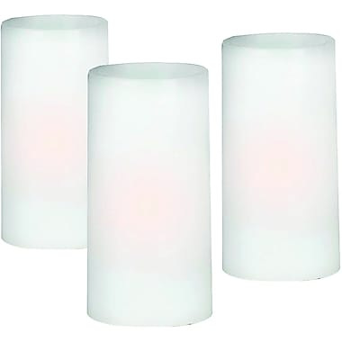 Kenroy Home 1 Light Battery LED Candle Set, White Finish