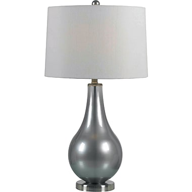 Kenroy Home Teardrop Table Lamp, Metallic Pewter Finish