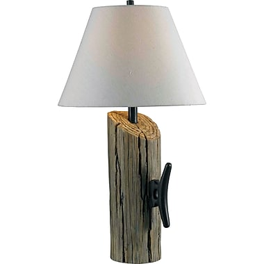 Kenroy Home Cole Table Lamp, Wood Grain Finish