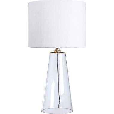 Kenroy Home Boda Table Lamp, Clear Glass Finish