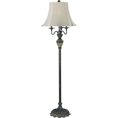 Kenroy Home Baroness Club Floor Lamp, Bronze with Marble Finish Accents