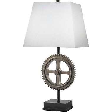 Kenroy Home Movement Table Lamp, Weathered Steel Finish