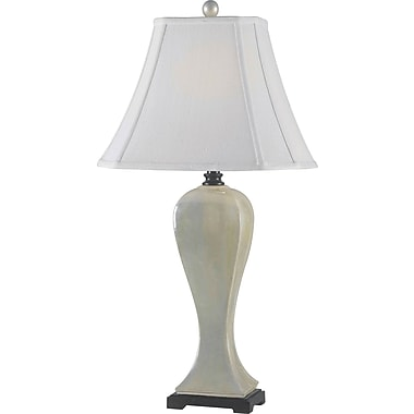 Kenroy Home Onoko Table Lamp, Pearlized White Finish