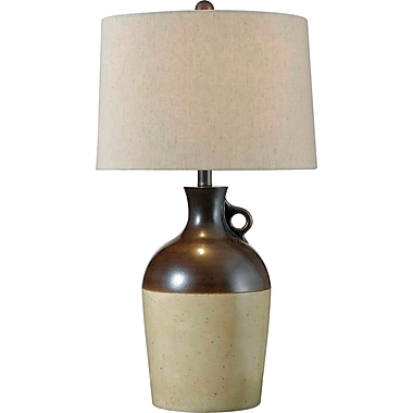 Kenroy Home Shine Table Lamp, Antique Brown Finish