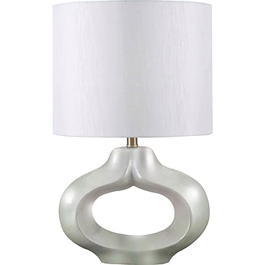 Kenroy Home Tivoli Table Lamp, Pearlized White Finish