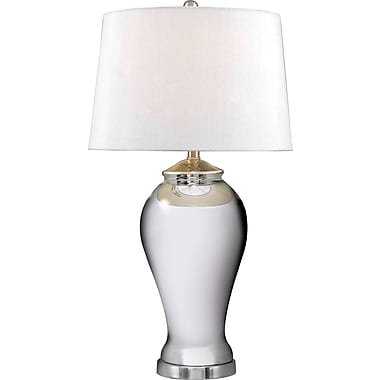 Kenroy Home Raylene Table Lamp, Mercury Glass Finish