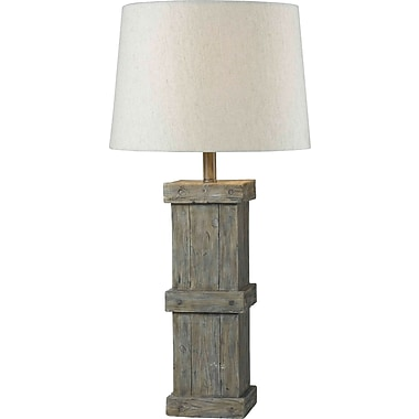 Kenroy Home Chandler Table Lamp, Wood Grain Finish