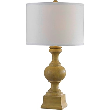 Kenroy Home Derby Table Lamp, Natural Wood Grain Finish