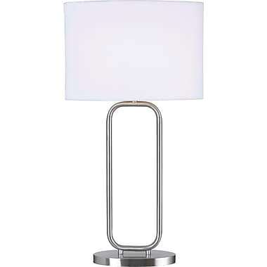 Kenroy Home Duet Table Lamp, Brushed Steel Finish