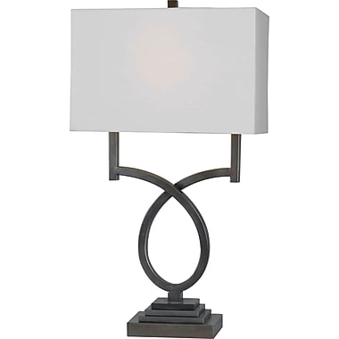 Kenroy Home Tau Table Lamp, Weathered Steel Finish
