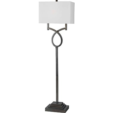 Kenroy Home Tau Floor Lamp, Weathered Steel Finish